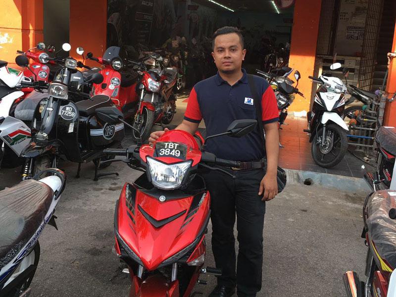 V Power Batu Caves Motorcycle Happy Customer Jul 2016