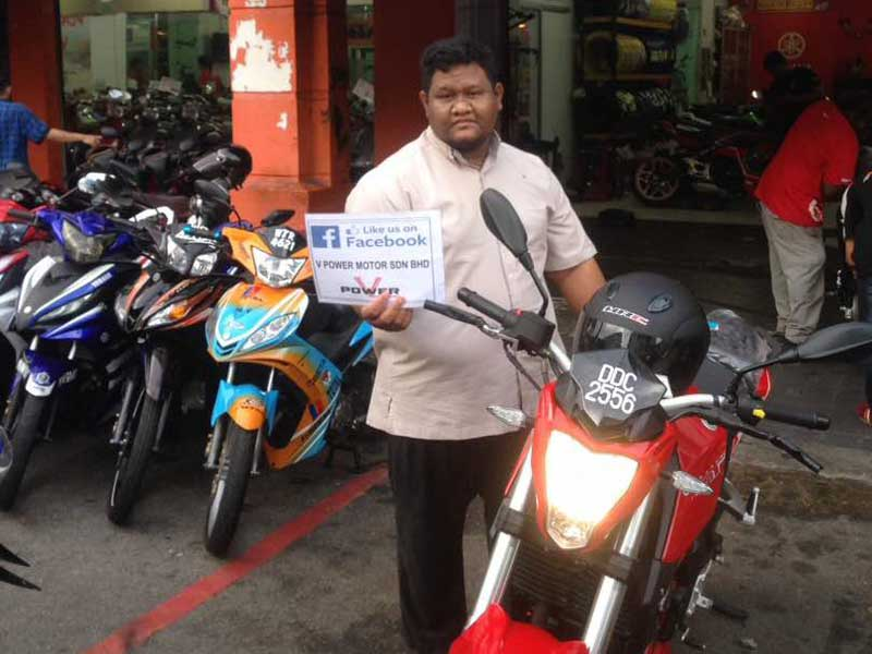 V Power Batu Caves Motorcycle Happy Customer July 2017