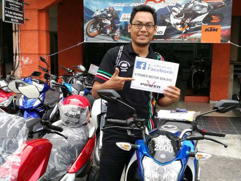 V Power Batu Caves Motorcycle Happy Customer May 2017