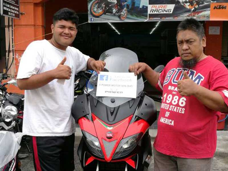 V Power Batu Caves Motorcycle Happy Customer Jun 2017