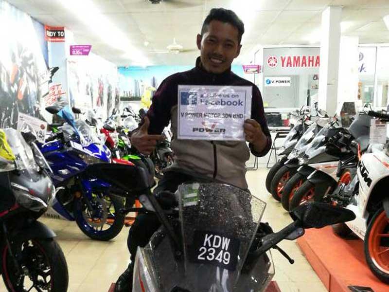 V Power Batu Caves Motorcycle Happy Customer Jun 2017