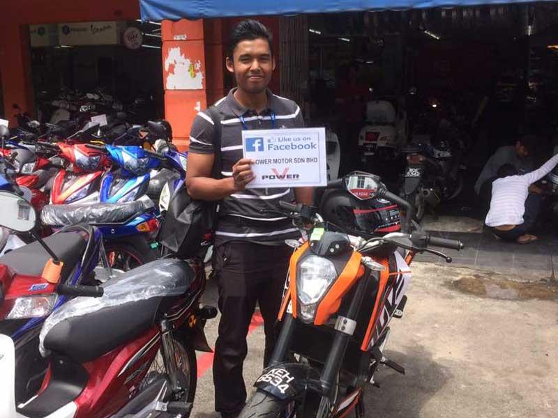 V Power Batu Caves Motorcycle Happy Customer April 2017