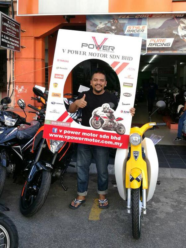 V Power Batu Caves Motorcycle Happy Customer Oct 2017