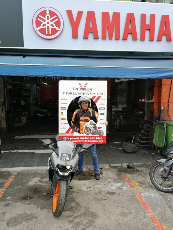 V Power Batu Caves Motorcycle Happy Customer Nov 2017