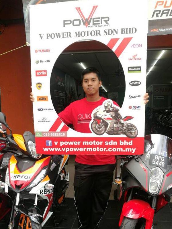 V Power Batu Caves Motorcycle Happy Customer Sep 2017
