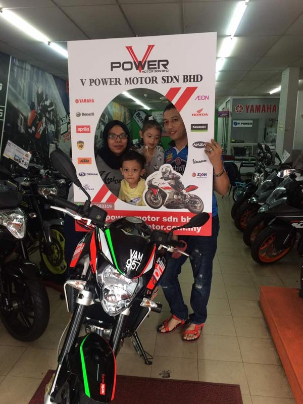 V Power Batu Caves Motorcycle Happy Customer Aug 2017
